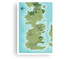 Topographic Map of Westeros Canvas Print