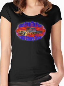 57' Chevy Truck Women's Fitted Scoop T-Shirt