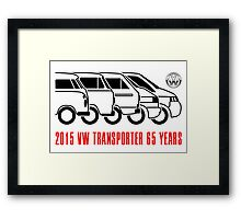 VW Transporter - 'T-volution' Framed Print