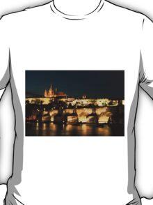 Prague at night. T-Shirt