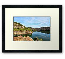 Carter's Lake, Chatsworth, Georgia, USA Framed Print