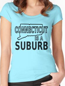 Connecticut is a Suburb Women's Fitted Scoop T-Shirt