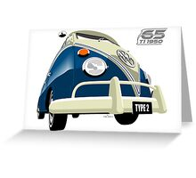 VW Transporter blue - 65th anniversary Greeting Card