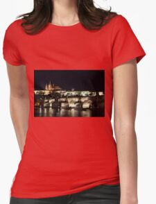 Prague at night. Womens Fitted T-Shirt
