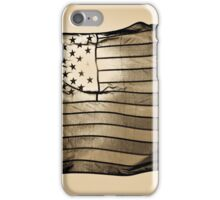American flag with sun and blue sky  iPhone Case/Skin