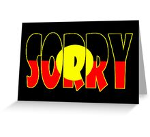 Sorry Card Greeting Card