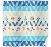 Sea Knitting Poster