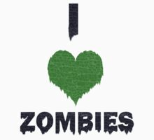 I Love Zombies T-shirt by jimmy-rage