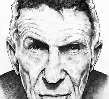 Leonard Nimoy - Mr Spock - Star Trek - LLAP by createdezign