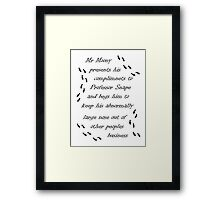 Marauders Map Mr Moony Framed Print