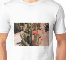 Red Flower Cactus Unisex T-Shirt