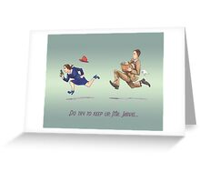 Do Try to Keep Up Greeting Card