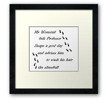 Marauders Map Mr Wormtail Framed Print