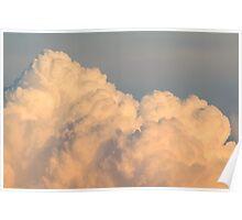Orange Cloudscape Horizontal Poster