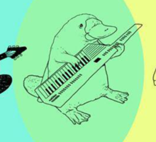 Keytar Platypus Venn Diagram Sticker