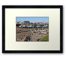 Boats at Low Tide Framed Print