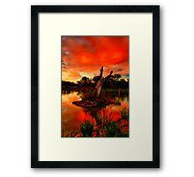 """""""Sundown at Balyang"""" Framed Print"""