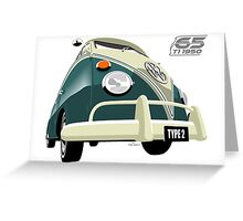 VW Transporter green - 65th anniversary Greeting Card
