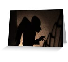 Shadow of the vampire Greeting Card