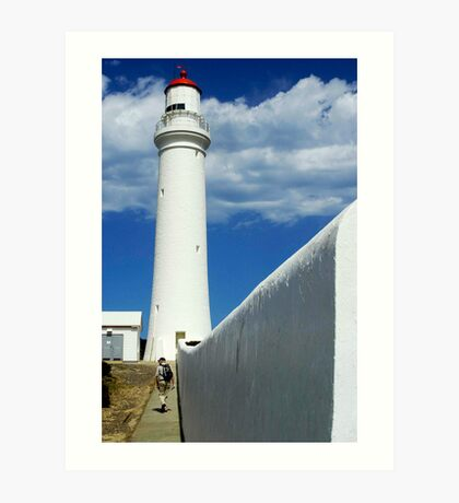 The Lighthouse and The Wall Art Print