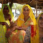 Three sisters at the market by John Kardys