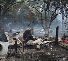 Victorian Bushfires....Yea-Glenburn area 2 by John Vandeven