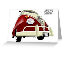 VW Transporter red - 65th anniversary Greeting Card
