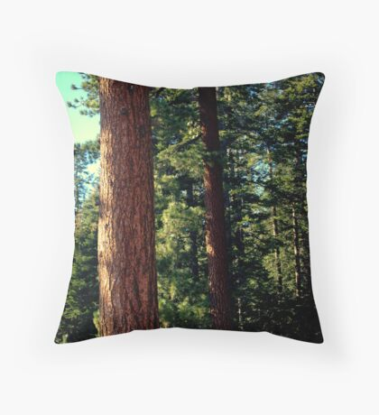 THE TREES OF YOSOMITE Throw Pillow