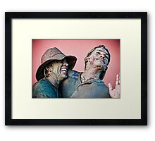 J'Ouvert love Framed Print