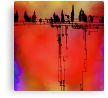 97 - Tree Music and Elevated Tree Forms Canvas Print