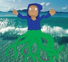 Hoodie Octopus in the Waves by graybles