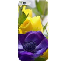 Yellow Roses and Purple Anemones......... iPhone Case/Skin