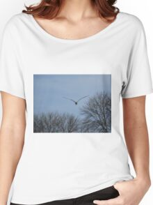 Seagull Over Trees Women's Relaxed Fit T-Shirt