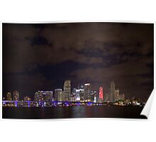 Miami at night Poster