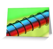 Coloured steel Greeting Card