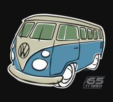 VW Type 2 bus blue T-Shirt