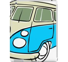 VW Type 2 bus blue iPad Case/Skin