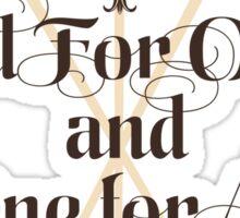 The Three Musketeers Motto Sticker