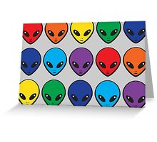 Rainbow Aliens Greeting Card