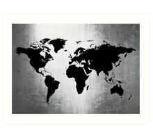 World Map Metal Art Print