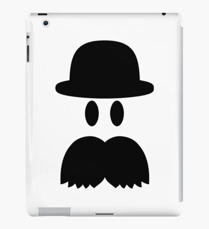 Smiley Mustache hat iPad Case/Skin