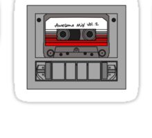 Awesome Mix Volume 2, Guardians of the Galaxy Radio inside the Milano black outline, colour fill. Sticker