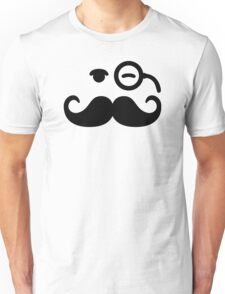 Smiley Mustache monocle Unisex T-Shirt