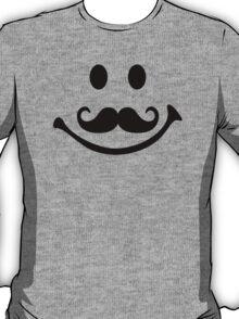 Smiley face mustache T-Shirt