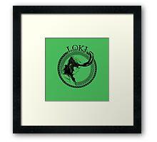 Loki Knots Framed Print