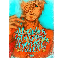 One Piece - Sanji with quote Photographic Print