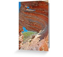 Rock Formation, Broome, Western Australia Greeting Card