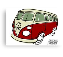 VW Type 2 bus red Canvas Print