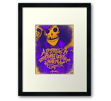 One Piece - Brook with quote Framed Print