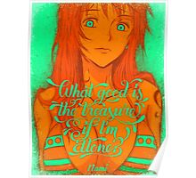 One Piece - Nami with quote Poster